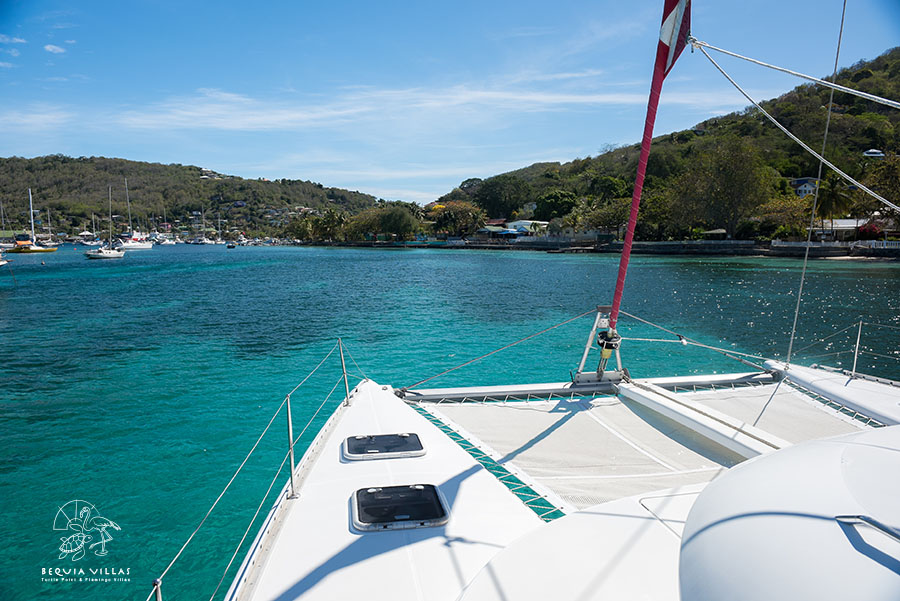 Sailing on Catamaran to bequia